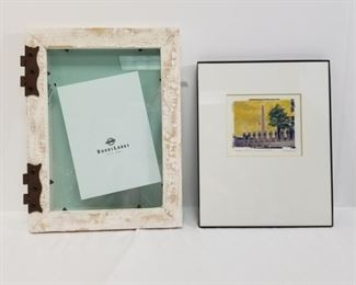 Art print by Pete Chandler signed of Washington monuments and picture frame https://ctbids.com/#!/description/share/233788