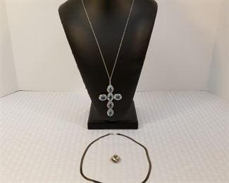 925 Sterling Silver Necklaces& Heart Pendant https://ctbids.com/#!/description/share/233707