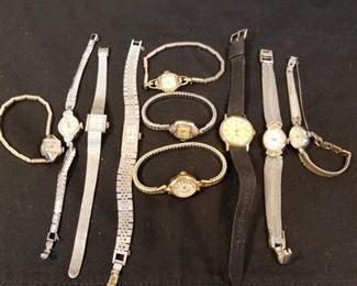 10 vintage watches.. Gruen and Bulova Included https://ctbids.com/#!/description/share/233726