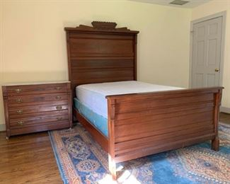 Full Size Bed with Headboard and Footboard plus Side Table/Dresser https://ctbids.com/#!/description/share/233766