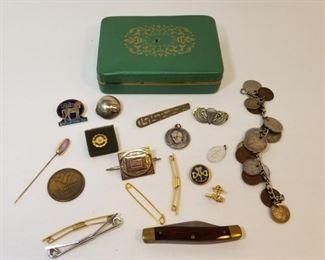 Sears Craftsman Pocket Knife, pins, costume jewlery https://ctbids.com/#!/description/share/233770
