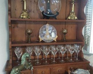 SABINO GLASS PLATES, ROSENTHAL STEMWARE