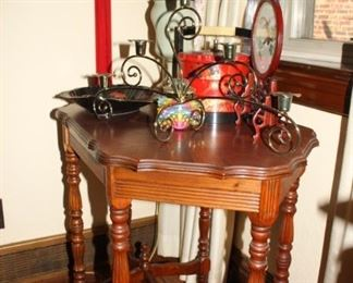 Inlaid wood small table.  Beautiful
