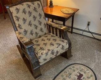 Adirondack style rocking chair by Marshfield. Pine Creek Collection.