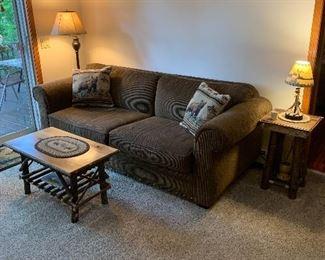 Adirondack stands. Sofa by Lloyds of Chatham.