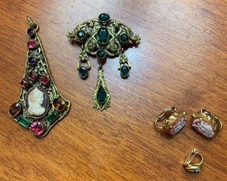 Czechoslovakia pieces on left- her father brought them home for her mother