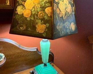 Jadeite lamp