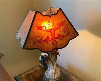 Parot lamp, mica style shade