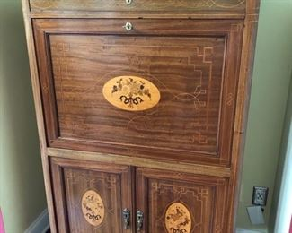 Italian wood inlayed secretary