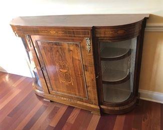 Italian wood inlayed window/buffet