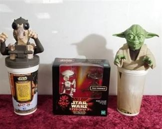 """Star Wars Episode 1 Pit Droids (A) - MIB 1/6 12"""" Doll Phantom Menace Hasbro and Collectors Cups"""