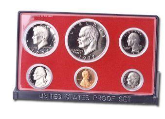 1977-S U.S. Mint Clad Proof Set (6 coins), Choice Proof, PR63