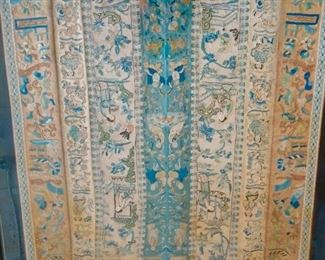 The most incredible silk embroidered sleeve circa 1850. Purchased by the family in Shanghai in 1985.