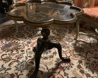 A wonderful black  Chinese chinoiseries table