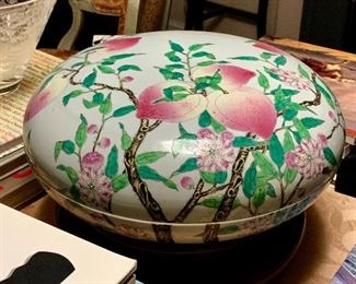 Early Chinese covered bowl
