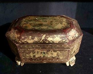 A Chinese tea box