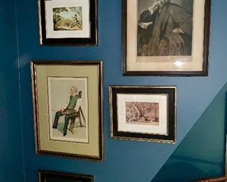 A grouping of art work all from the Morgan gallery