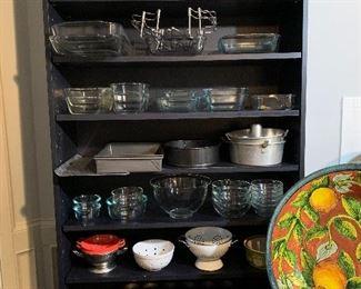 Shelf full of baking supplies