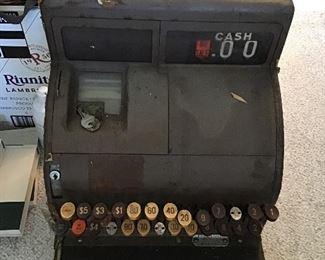 Antique National Cash Register 126(4)N with Original Keys
