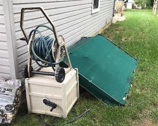 Outdoor swing, hose