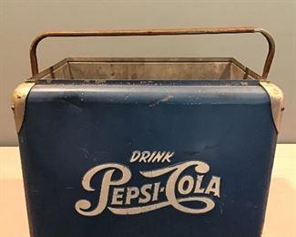 1950's Metal Pepsi-Cola Cooler Pepsi Cola