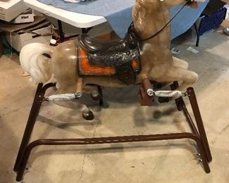 Vintage Bouncing Rocking Ride-on Spring Horse - Great Condition!