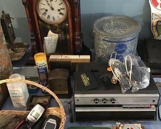 Vintage Cell Phones, 8 Day Clock, Vintage Litho Tins