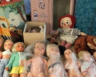 Dolls, Antique Porcelain Doll Parts, Thumbelina, Raggedy Ann