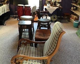Assorted Vintage Furniture,