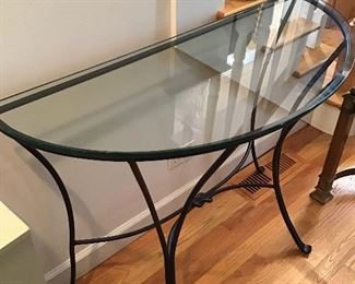 Wrought a Iron and Glass Table