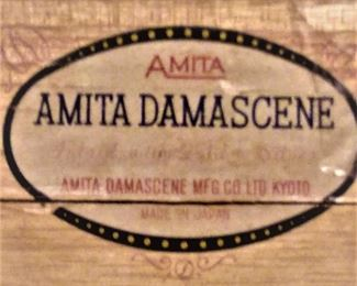 AMITA DAMASCENE original container Inlaid with 24 k Gold 24 K Sterling Silver written