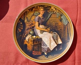 Knowles Dreaming in the Attic Collectible Plate Rockwells Rediscovered Women