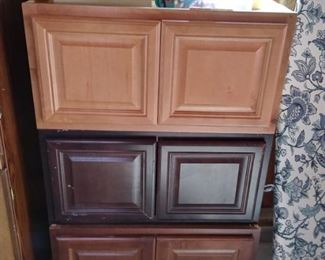 overhead cabinets -assorted