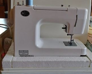 Kenmore portable sewing machine with case, excellent shape