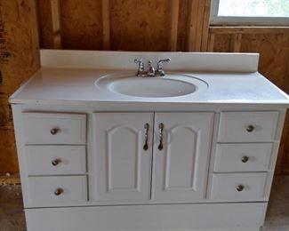 Bath vanity and sink combo