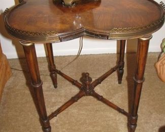 burled side table $45