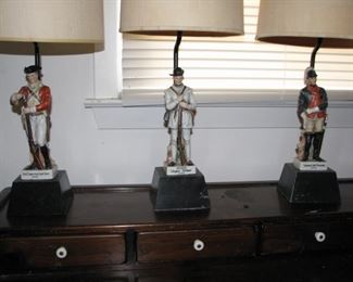 3 figural lamps $120