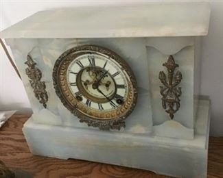 Antique  Marble Clock with key