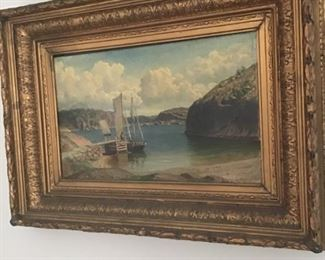 Listed Artist Original OIl Late 1880's in magnificent frame