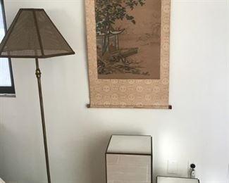 Floor Lamp, Mirrored Pedestals Varaious sizes