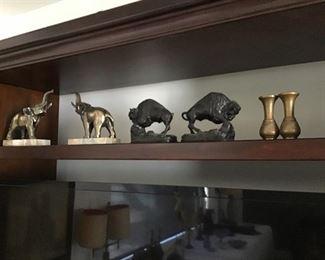 Bookends, Elephants, Buffalo