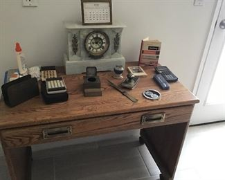 Oak Desk with Pencil Drawer