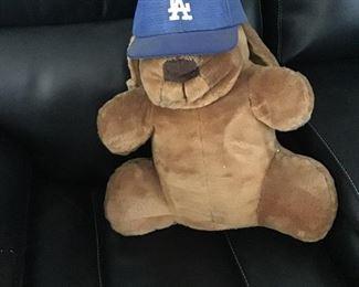 Vintage L.A. Dodgers Bear with L.A> Dodgers cao