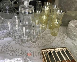 Vintage Crystal  Glass Sets & Liqueor Sets