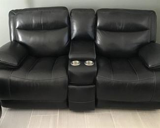 Stadium Seating Leather Electric Chairs with cups holders and console $ 750