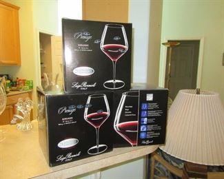 Bormioli wine glasses new in box
