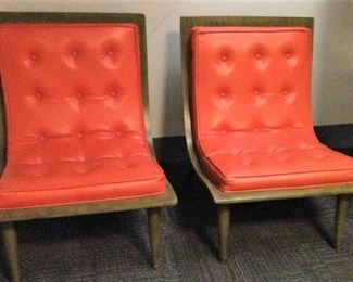 """Mid Century Modern """"Scoop"""" Bentwood Chairs"""