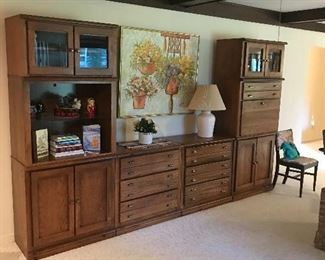 Lovely Large all wood wall unit!