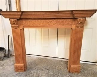 Carved Fireplace Mantle