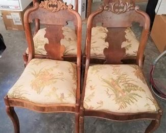 Carved Wooden Back Chairs